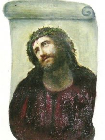 Restoration of Jesus Fresco Fail