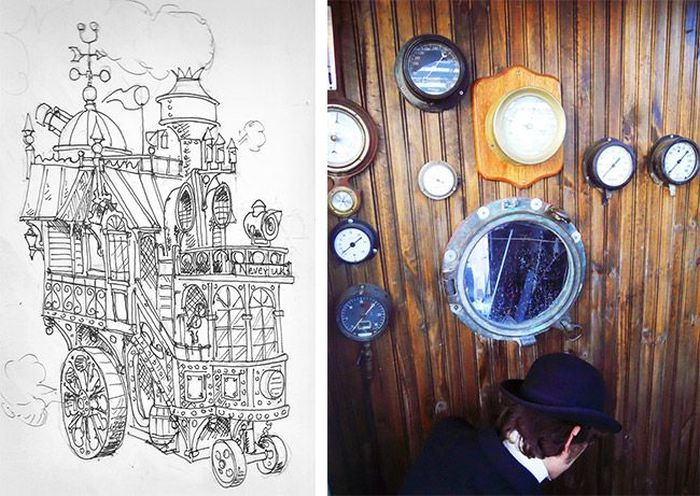 Amazing Steampunk Wheelhouse