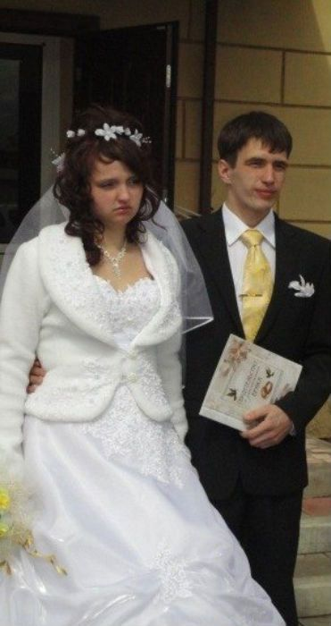 The Bride Seems to Be Very Happy