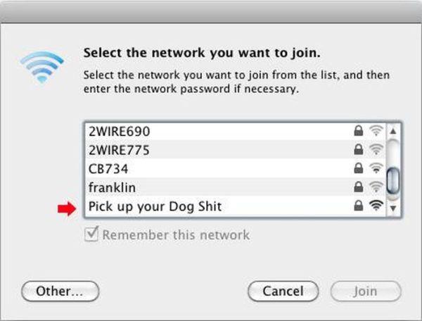 Communicating via Wi-Fi Network Names
