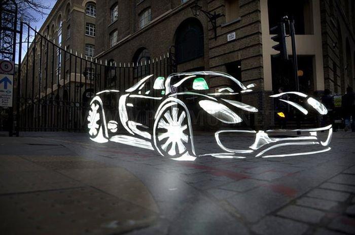 Amazing Light Graffiti in London