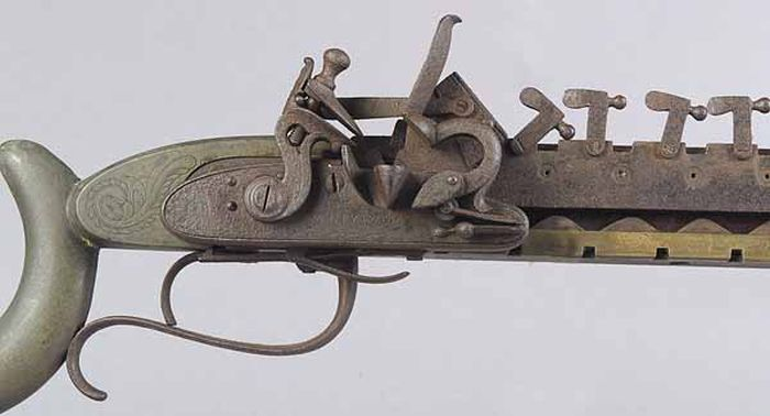 12-Shot Flintlock Jennings Repeating Rifle