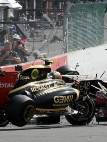 The accident at the Belgian Grand Prix 2012