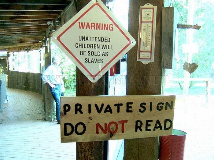 Strange and Funny Warning Signs | Fun