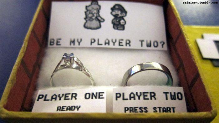 Super Mario Marriage Proposal