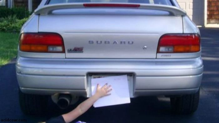 Hide Your License Plate Like A Boss