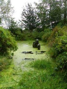 Very Creepy Swamp Sculpture