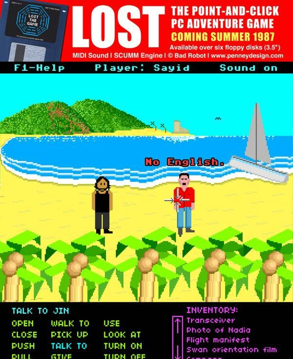 If LOST was a 1987 Point-and-Click Adventure Game