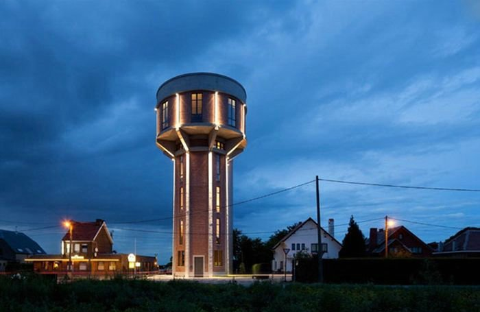 Awesome Home Inside an Old Water Tower