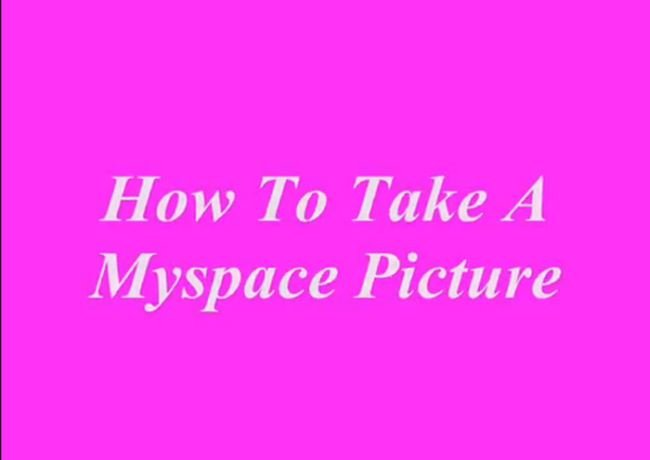 How to Take Myspace Profile Pictures