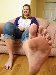 Teen Girl with Giant Feet