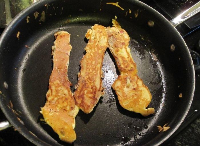 Pancake Covered Bacon