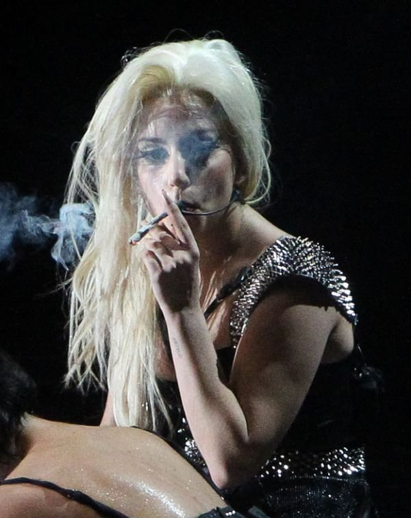 Lady Gaga Smokes Weed on Stage