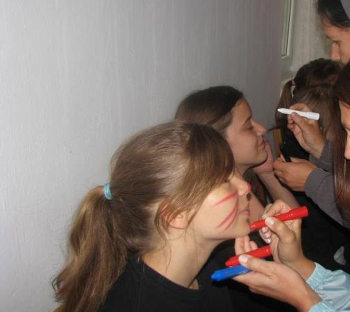 Bizarre Initiation Ceremony at Polish School