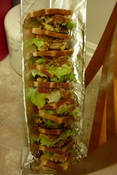 Giant Double Triple Sandwich Deluxe