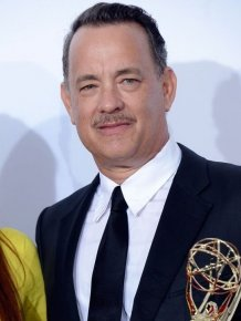 Tom Hanks Uses Emmy as Hood Ornament
