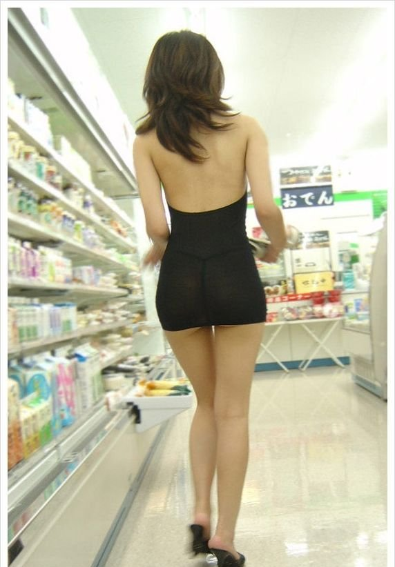 Girl in a Tight Dress Goes Shopping