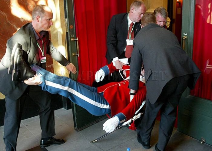 Fainting During Official Ceremonies