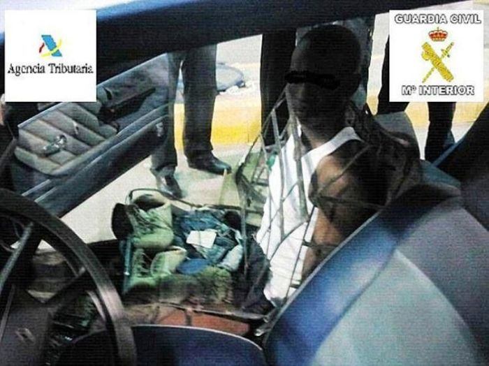 Smuggling a Man Inside a Car Seat