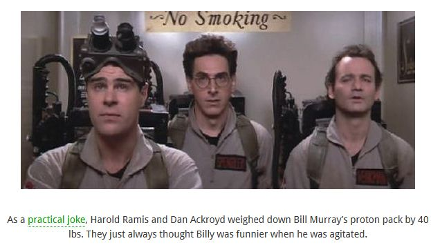 Interesting Facts about the Ghostbusters Movies
