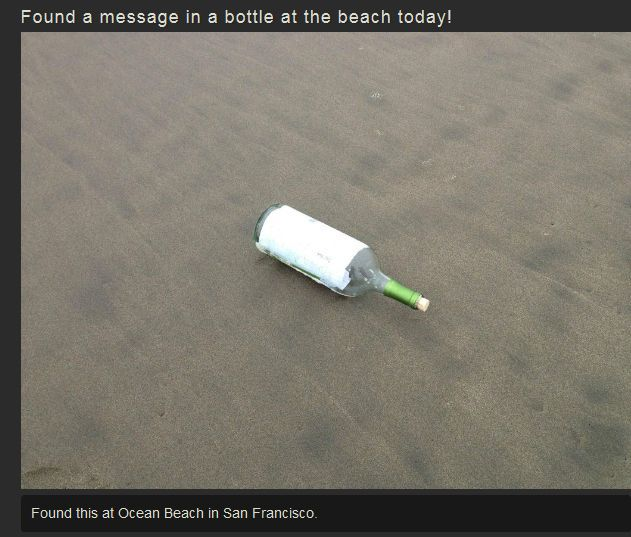 A Message in a Bottle!