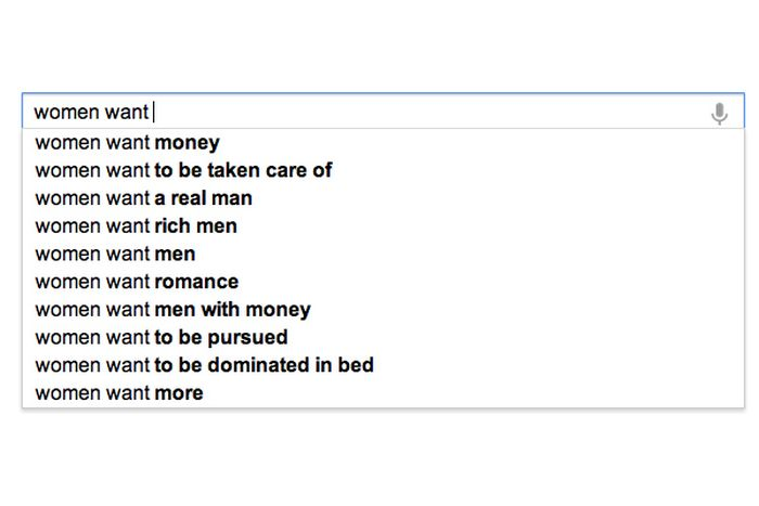 What Google Knows About Women