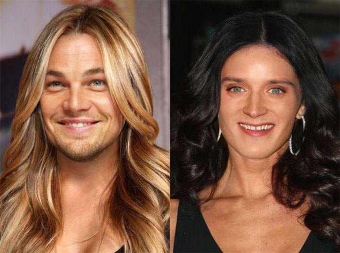 Celebrities in Virtual Gender Switch
