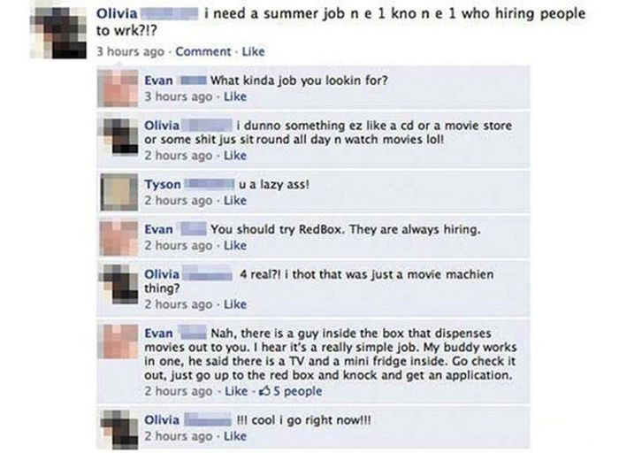 Funny and Stupid Facebook Moments