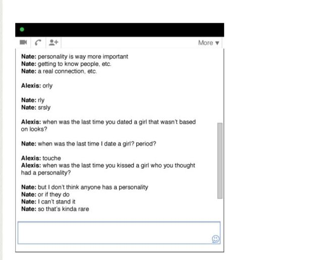 A Love Story In GChats
