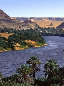 Lakes of Ounianga in Sahara Desert