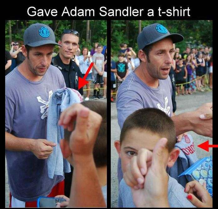 What Happens When You Give Adam Sandler a T-Shirt