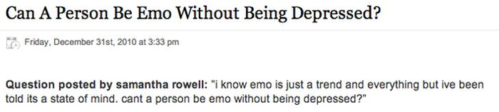 What People Want To Know About Emo Kids