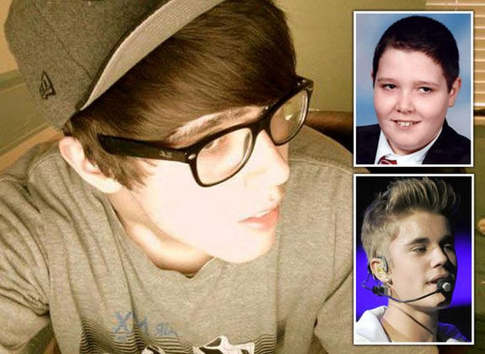 Fat Boy Turns Into Justin Bieber