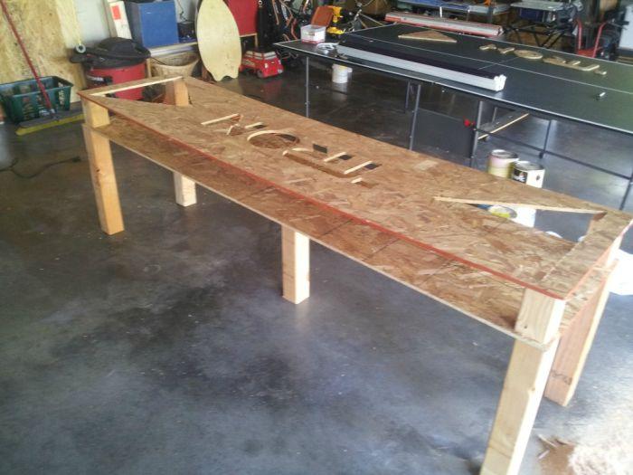 tron beer pong table others. Black Bedroom Furniture Sets. Home Design Ideas