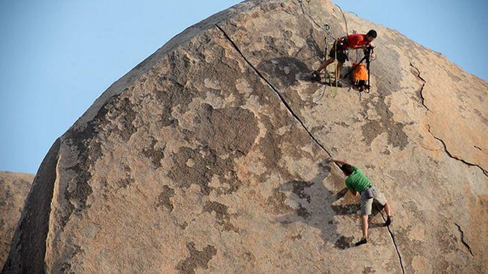 How the Rock Climbing Photos Are Made