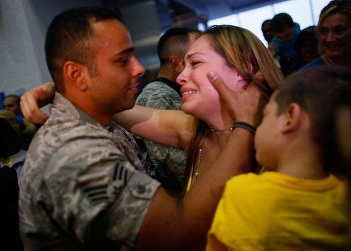 Great Pictures Of Military Families Reunited