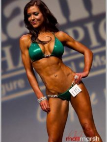 Female Body Building Champion Melissa Haywood