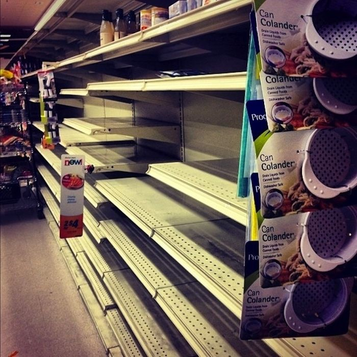 Grocery Store Madness Inspired by Hurricane Sandy