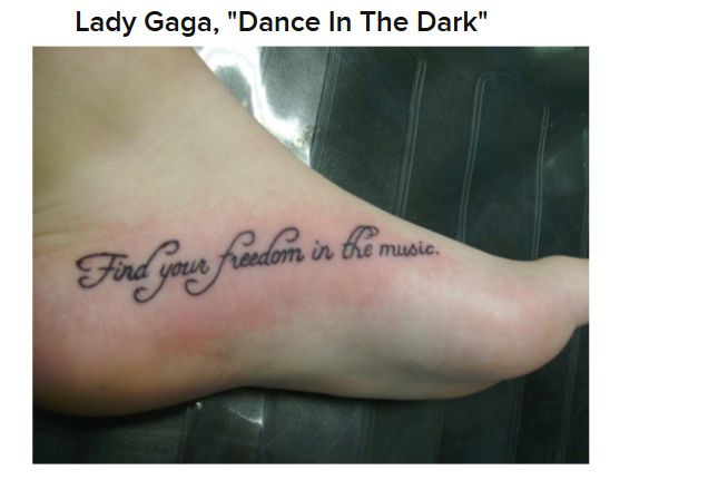 Song Lyric Tattoos