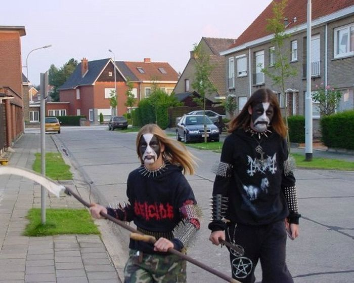 one of those people heavy metal fans