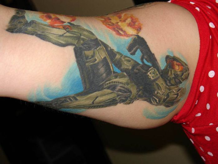 Tattoos of Halo Fans