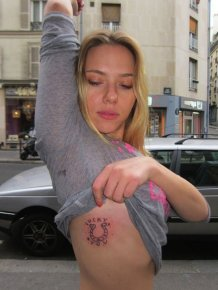 Scarlett Johansson's New Tattoo