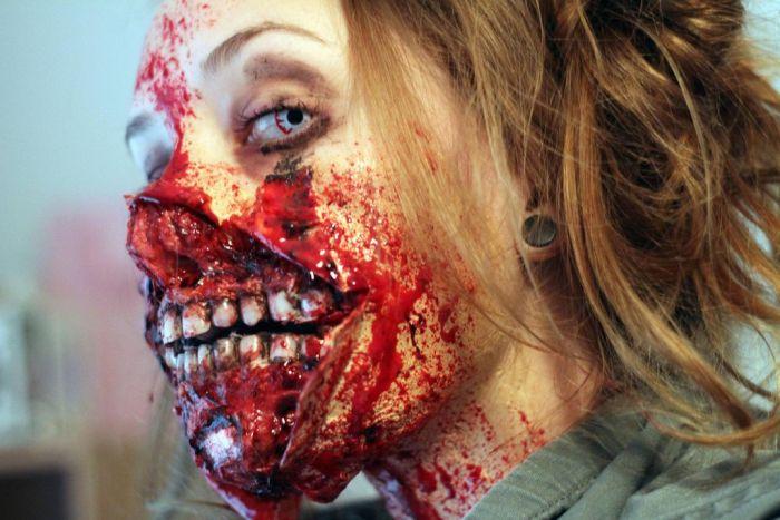 Scary Zombie Audrey Hepburn