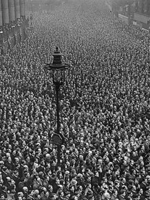 People Celebrating the End of World War I