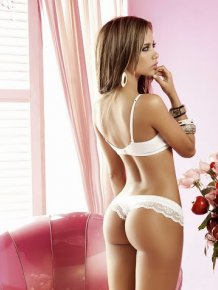 Catalina Otalvaro in Hot White Lingerie