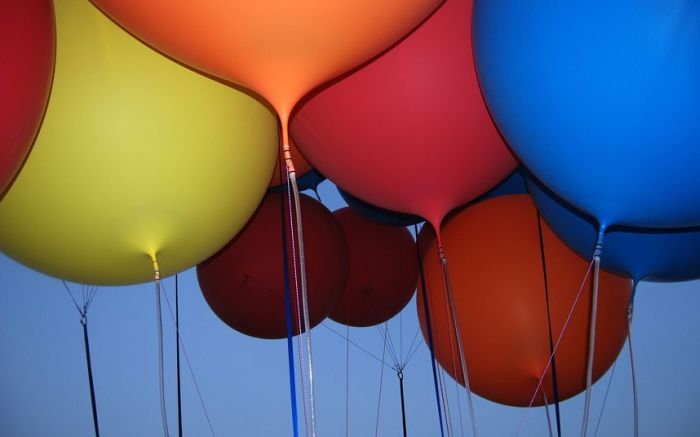 Helium Balloons Flight