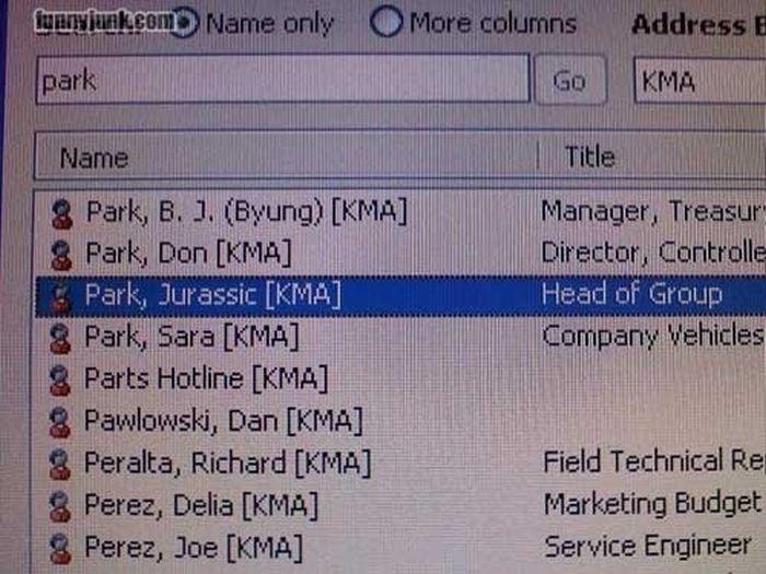 Unfortunate Names