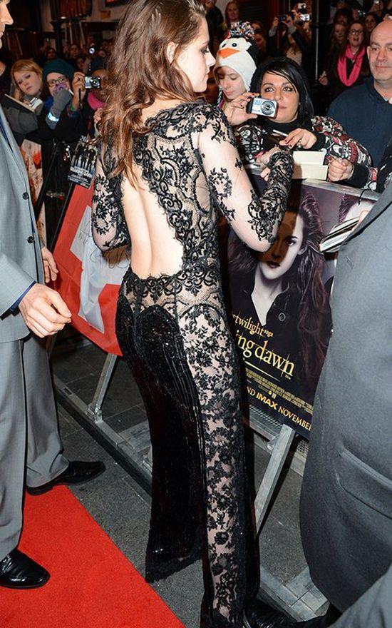Kristen Stewart Wearing a Hot Black Dress