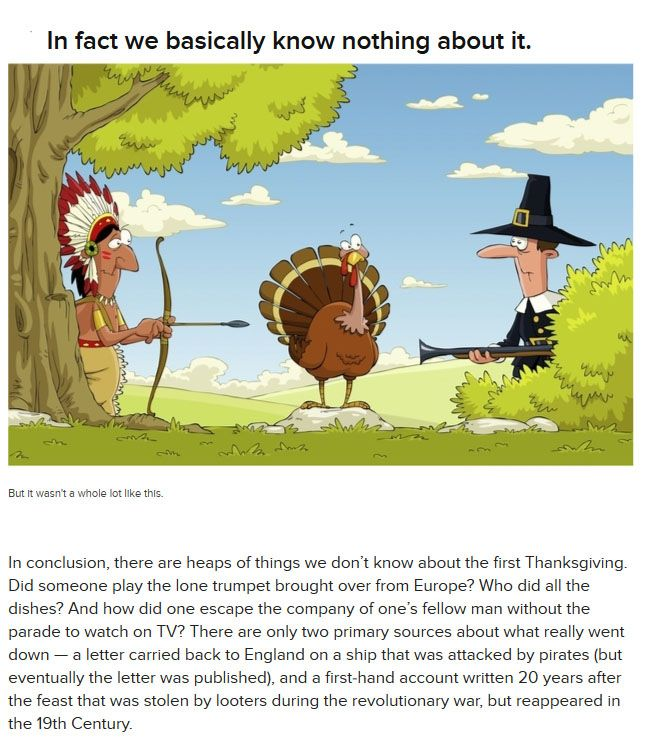 What You Didn't Know About The First Thanksgiving