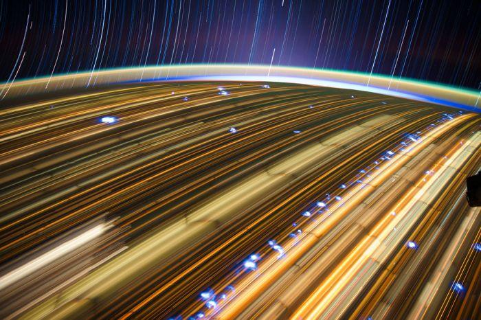 ISS Star Trails
